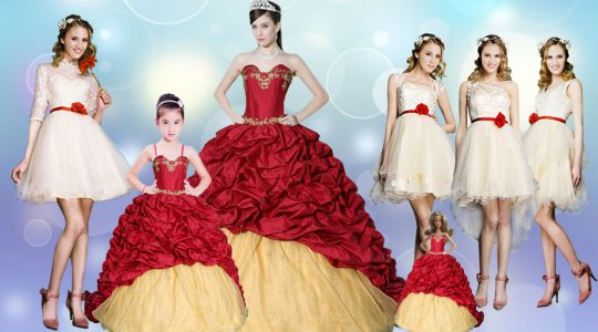 Wine Red Sweetheart Lace Up Beading and Appliques and Pick Ups 15 Quinceanera Dress Brush Train Sleeveless